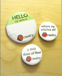 Ravelry.com Buttons by BusyBeaver.net