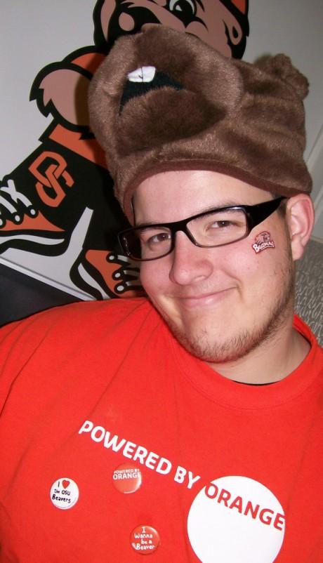 Kegan Sims, a true-blooded Beaver Believer!