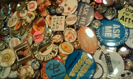 Can you guess how many Busy Beaver Buttons are in this photo?