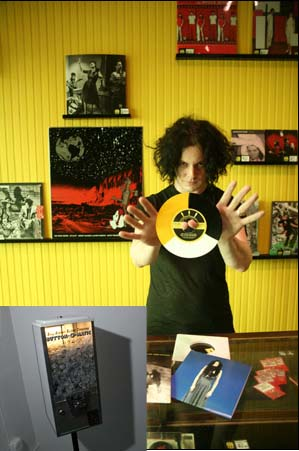 Jack White opens Third Man Pop Up Store with a Button-O-matic