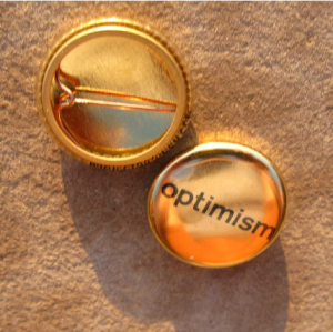 Gold project optimism Buttons by Reid Seifer