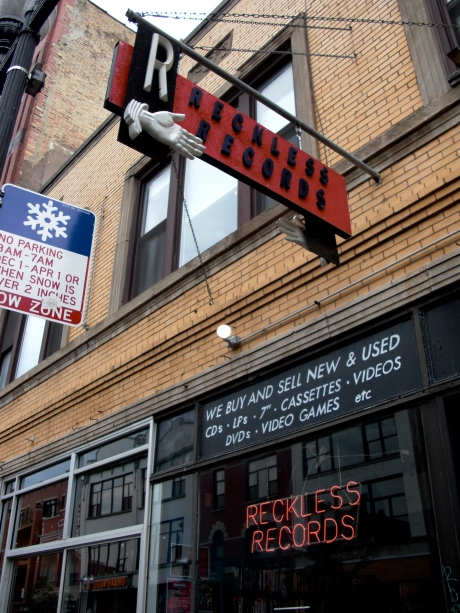 Reckless Records 1532 N Milwaukee in Chicago