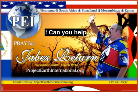 Project Earth International uses buttons to promote their mission