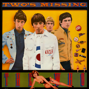 """Two's Missing"" by the Who album art with buttons"